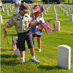 Memorial Day Grave Decorating